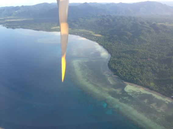 On final approach to the beautiful Catanduanes Island.