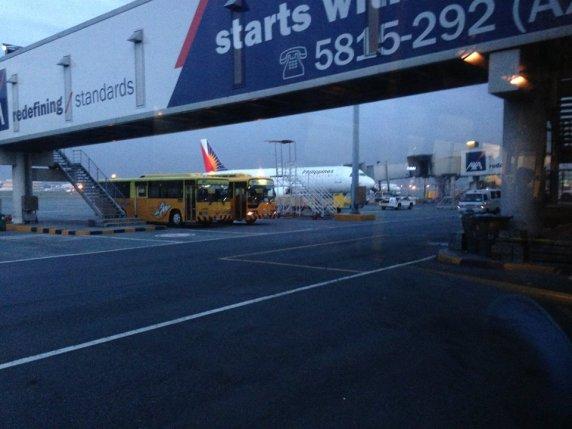 At the tarmac of Ninoy Aquino International Airport, bound for Virac, Catanduanes.