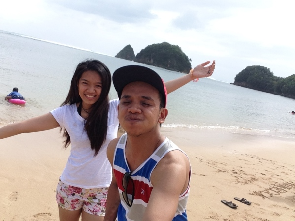 My sister and I while enjoying the Catanduanes heat!