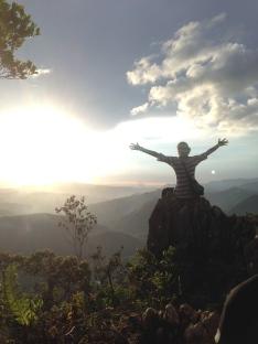 Philippine sunset view at the summit of Mt. Daraitan.