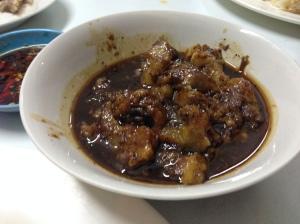 Adobong Mata ng Baka or marinated cow's eyeball