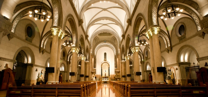 The central nave. Photo by Manila Cathedral website