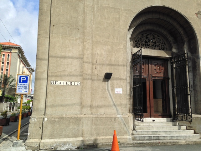 Entrance to the adoration chapel at Calle Beaterio.