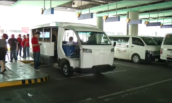 The E-Jeepney (Comet) at its transport terminal in North EDSA. Photo by Google Images.