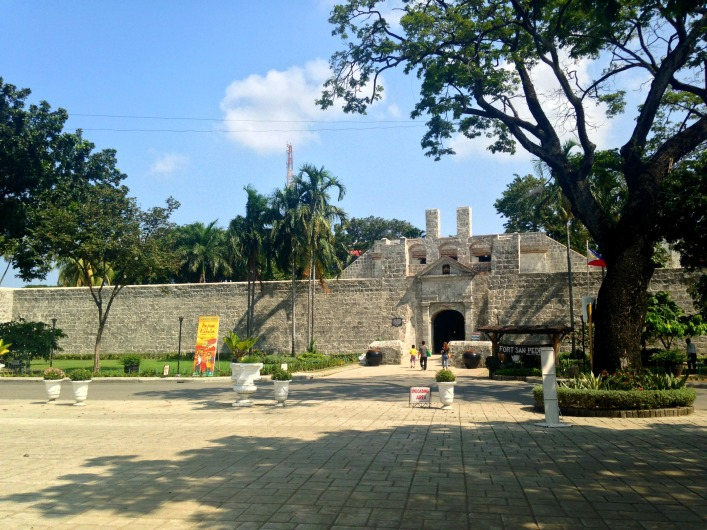 Facade of Fort San Pedro, photo taken from Plaza Independencia.
