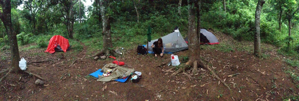 Campsite close to Layon Bato river.