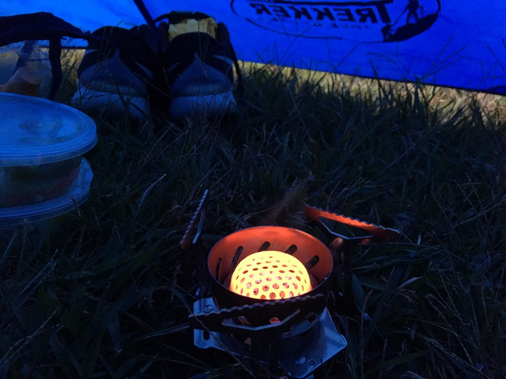 Cooking outside can be a challenge due to strong winds, but be very careful when you do it inside the tent..