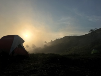 Sunrise view from the campsite