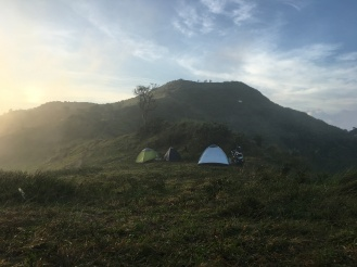 View of the summit from the campsite